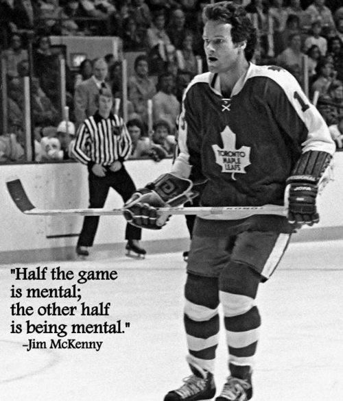 BOSTON, MA - 1970's: Jim McKenny of the Toronto Maple Leafs skates against the Boston Bruins at Boston Garden. (Photo by Steve Babineau/NHLI via Getty Images)